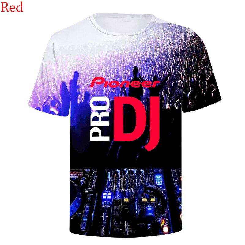 Mais recente moda pioneer pro dj 3d t camisas impressão em torno do pescoço de manga curta das mulheres dos homens hip hop 3d t-shirts camiseta camisolas topos