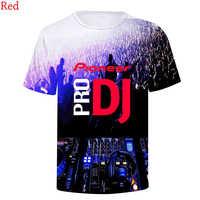 Ultima Moda Pioneer Pro Dj 3d T shirt Stampa Girocollo Manica Corta Delle Donne Degli Uomini di Hip Hop 3D T-Shirt Tee camicia Felpe Magliette e camicette