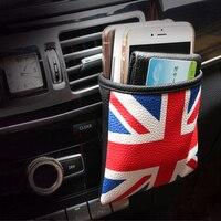Car Air Vent Outlet Posiadacz Telefonu Kieszeni Bagażu Organizator Wiszące torba Dla BMW MINI COOPER One + S JCW Car Styling akcesoria