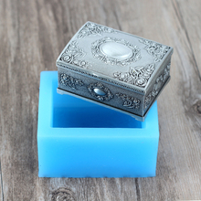 Silicone Soap Mold 3D Gift Box Shape Handmade Chocolate Candy Mould Craft Resin Clay Decorating Tool