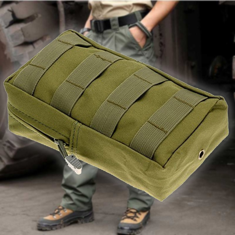 Waist Pouch Safe Outdoor Tactical Pockets Bag Zipper Package Attached Pouch Camping Backpack