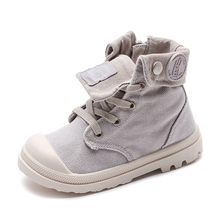 2019 Spring Autumn New Kids Sneakers High Children's Canvas Shoes Boys And Girls Child Baby Martin Boots Casual Military Boots