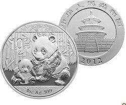 2012 sammlung Silber Panda Münzen 1 unze S999 Silber Bar Reinem Silber Hacker Silber Münzen Souvenir