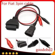 цена на For F-iat 3 Pin Alfa Lancia to 16Pin OBD2 obd-II connector Adapter Auto Car Cable obd f-iat 3pin Diagnostic Cable