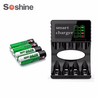 Soshine AA 1 2V 2700mAh Ni MH Rechargeable Battery With Portable Battery Box Smart AA AAA