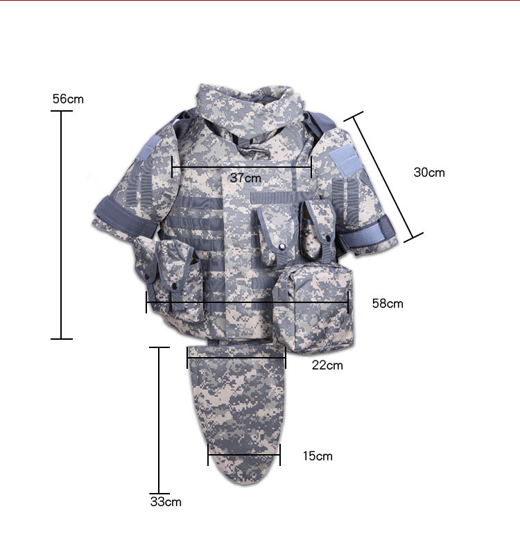 OTV Tactical Vest Camouflage Fight Body Armor With Pouch / Pad ACU - Sikkerhed og beskyttelse - Foto 6