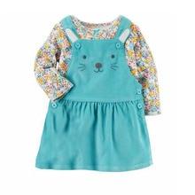 Baby Girl Floral Dress Set Long Sleeve Pocket