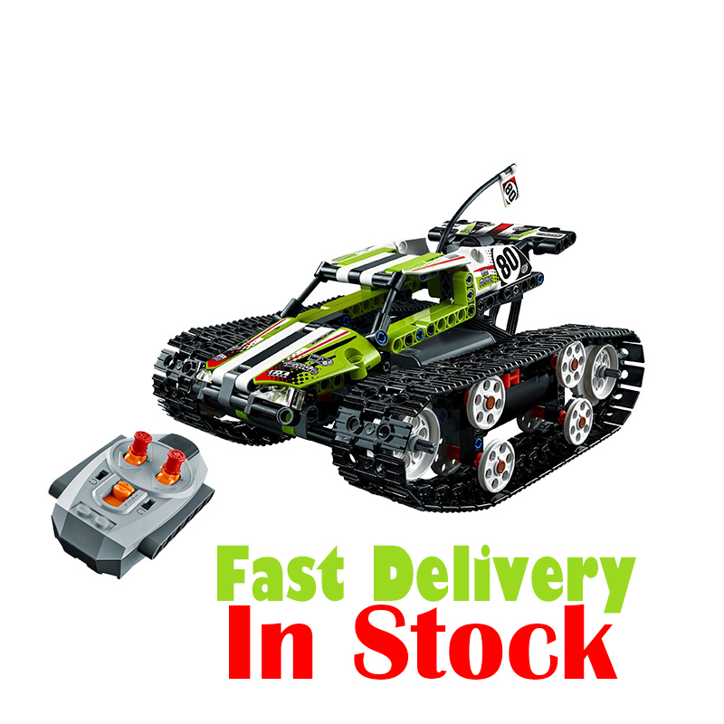 LEPIN 20033 397Pcs Technic Radio Controlled Tracked Racer Model Building Kits Blocks Bricks Toys Gift 42065