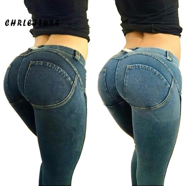 Plus Size Woman Fashion Pants Jeans Female Edition Shaping Sexy Push UP Hip Pantalones Pants Trousers Women Jeans Pants Women