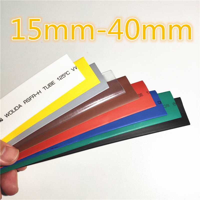 1meter 2:1 9 Colors 15mm 16mm 18mm 20mm 22mm 25mm 28mm 30mm 35mm 40mm Heat Shrink Heatshrink Tubing Tube Wire Dropshipping