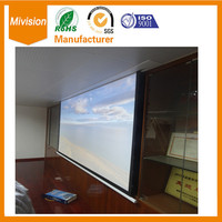 Premium in Ceiling Electric Projection Screen 120 With RF, IR, Wall Switch Control 4:3, Matte White