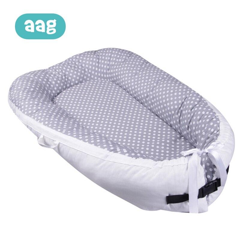 AAG bébé nid coton nouveau-né infantile Portable berceau lit bébé dormir voyage lit nouveau-né couffin pare-chocs pliable 40