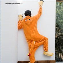 Adult Charmander Onesies Cosplay Costume Fire Dragon Pyjamas Anime Pokemon Sleepwear Pajamas Jumpsuit For Halloween Carnival