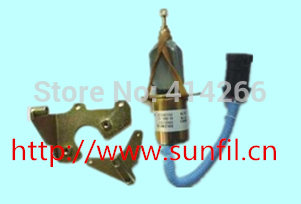 FUEL SHUTOFF SOLENOID VALVE  1752ES SA-4345-24, 24V 3924450 2001es 12 fuel shutdown solenoid valve for cummins hitachi