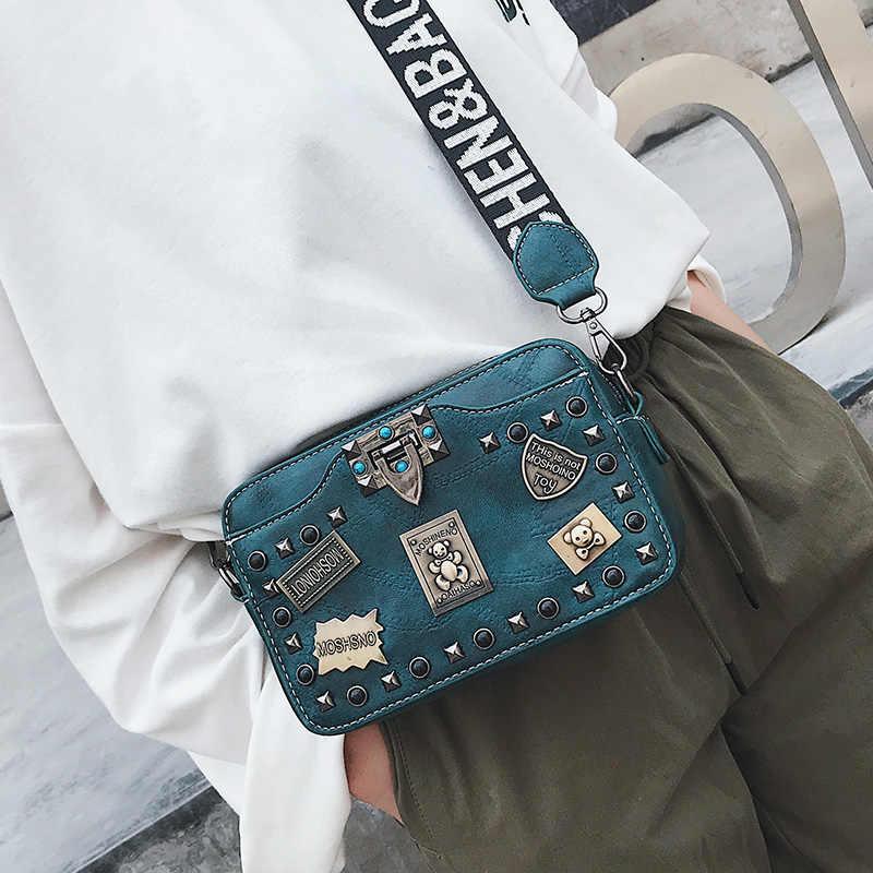 Металлический значок аппликации сумки заклепки небольшой площади Crossbody сумки старинные жемчужный замок женские Лоскутные сумки мода сумка