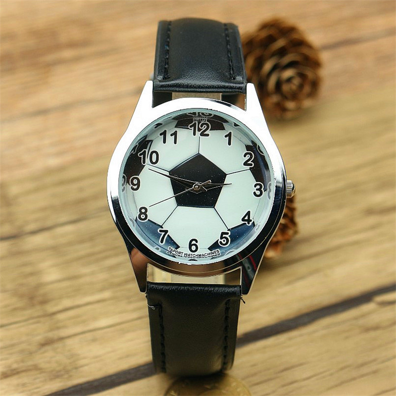wholesale Children cartoon watch Brand Quartz Watch For Girls Boys Kid Watches Football Fashion unisex leather wristwatch качалка geuther лошадка качалка geuther stern разноцветная