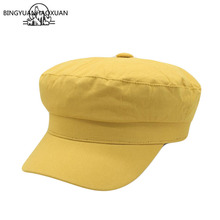 BINGYUANHAOXUAN NEW Women Men Newsboy Plain Cap Top Berets Duckbill Hat Retro Cotton for Unisex Beret