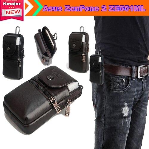 bilder für Echtes Leder Tragen Gürtelclip Tasche Taille Geldbörse Fall-abdeckung für Asus ZenFone 2 ZE551ML 5,5 zoll Telefon Freier Tropfen verschiffen