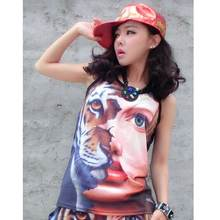 New Fashion Women Tupac Shakur T Shirts Harajuku Shirts Casual 3D Character T shirts Hip Hop