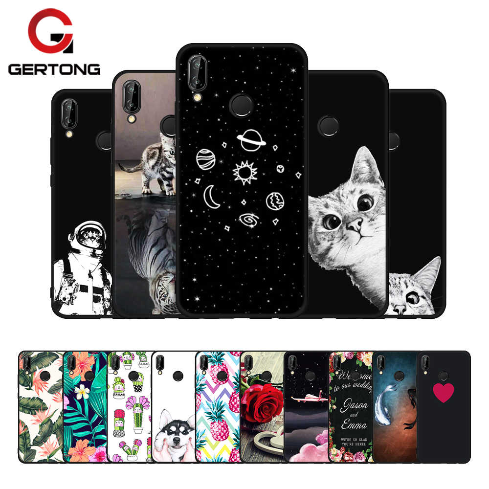 GerTong TPU Pattern Phone Case For Huawei P20 Pro Mate 10 P10 Lite P8 P9 Lite 2017 Cover For Honor 8 9 Lite 9i Nova 2i Y9 2018