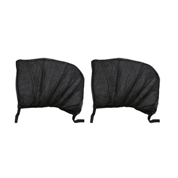 2Pcs Flexible Auto Side Rear Window Sun Shade Mesh Curtain Car UV Protection Mesh Cover Mosquito Dust Protective Sleeve image