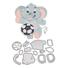 Buy elephant craft punch and get free shipping on aliexpress estel metal cutting dies cut elephant football stitched diy scrapbook paper craft card album embossing stencils maxwellsz