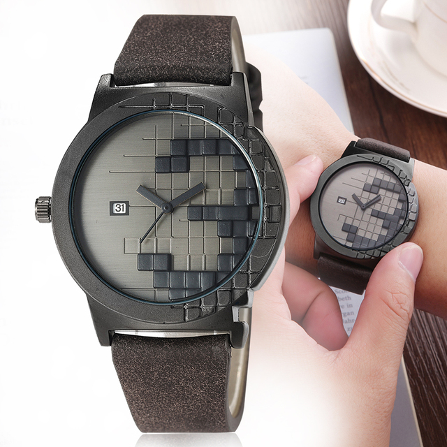 Creative women watch Simple watches men quartz Leather Calendar Date Wristwatch for Couple Clock relogio feminino masculino 2018