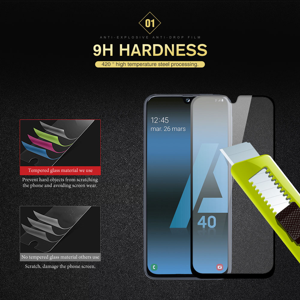 Full CoverTempered Glass For Samsung Galaxy M40 M30 M20 M10 A50 A30 A20 A40 A70 A80 A90 S8 A6s A8s A9S Screen Protector Film in Phone Screen Protectors from Cellphones Telecommunications