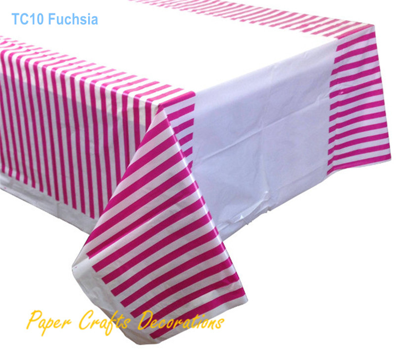 108*180cm Baby Pink Striped Plastic Party Tablecloths Table Cover  Decorations Kids Birthday Party Supplies In Tablecloths From Home U0026 Garden  On ...