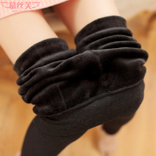 Newly Design Women Lady Autumn winter Cotton Warm Leggings  Good Quality Solid All-match Leggings Thick Velvet Pants