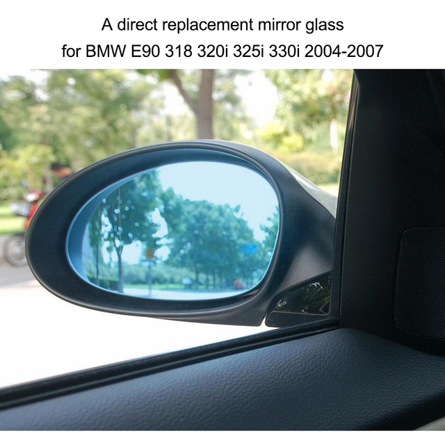 Right Side Door Wing Mirror Glass With Heated Function For Bmw E90