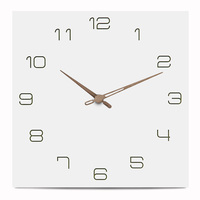 European Style Wall Clock Modern Wall Art Home Decor Luxury Interior Design Frameless MDF Wood Wall Clock YC4888