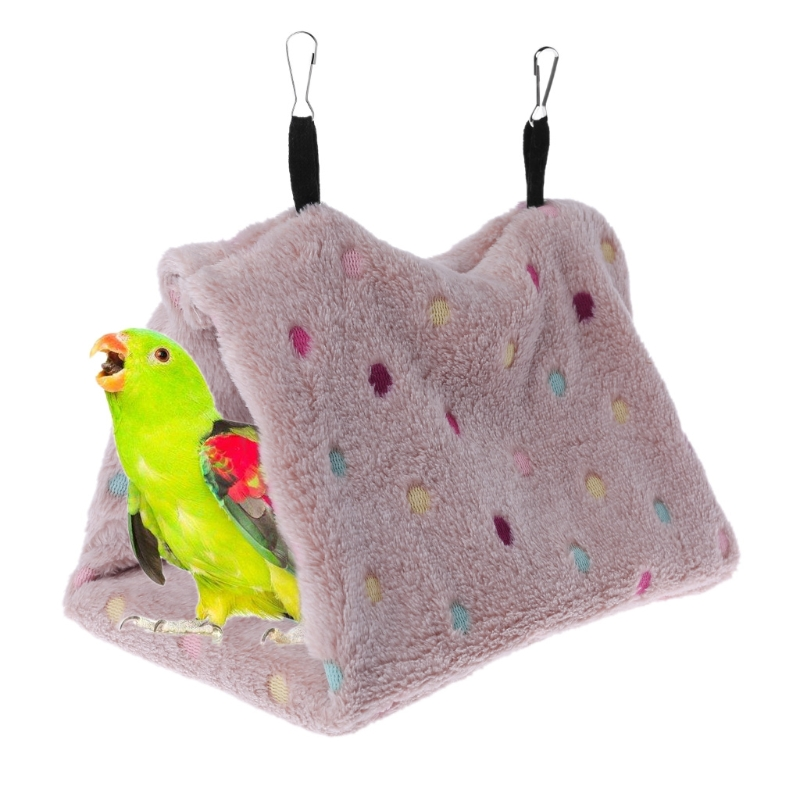 Pet Bird Hanging Cave Cage Tent Bed Birds Parrot Hammock Winter Warm Cloth Nest