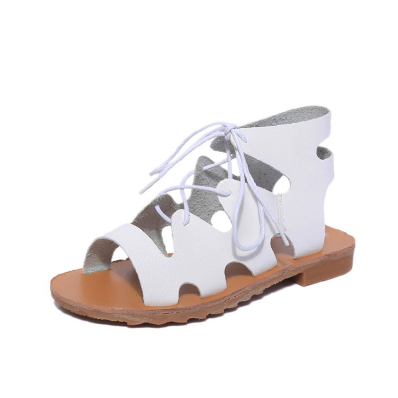Fashion Summer Shoes Woman Leather Gladiator Sandals Women Cover Heel Rubber Flat Sandals Ladies Slippers Fashion Casual Shoes 2016 fashion women summer sandals slippers flat heel sandals beaded lacing gladiator small wedges shoes casual shoes