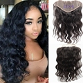 Full Hand hook Frontal Lace 13x6 Ear to Ear Bleached Knots Natural Body Wave Human Hair Peruvian Lace Frontal Closure no shed