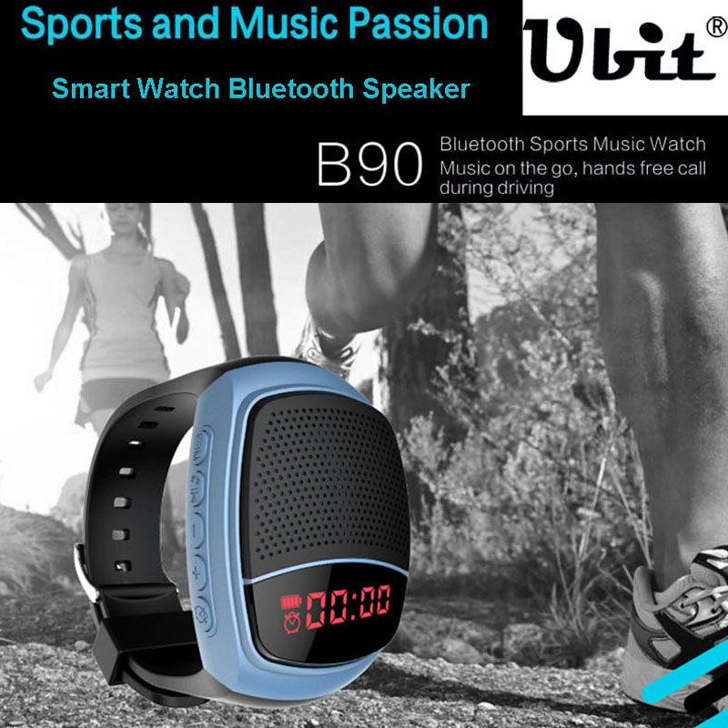 Speakers U6 Wireless Wristband Super Bass Bluetooth Speaker Smart Watch Sport Music Player Call Playing Fm Radio Self-timer Pk B20 B90 Consumer Electronics