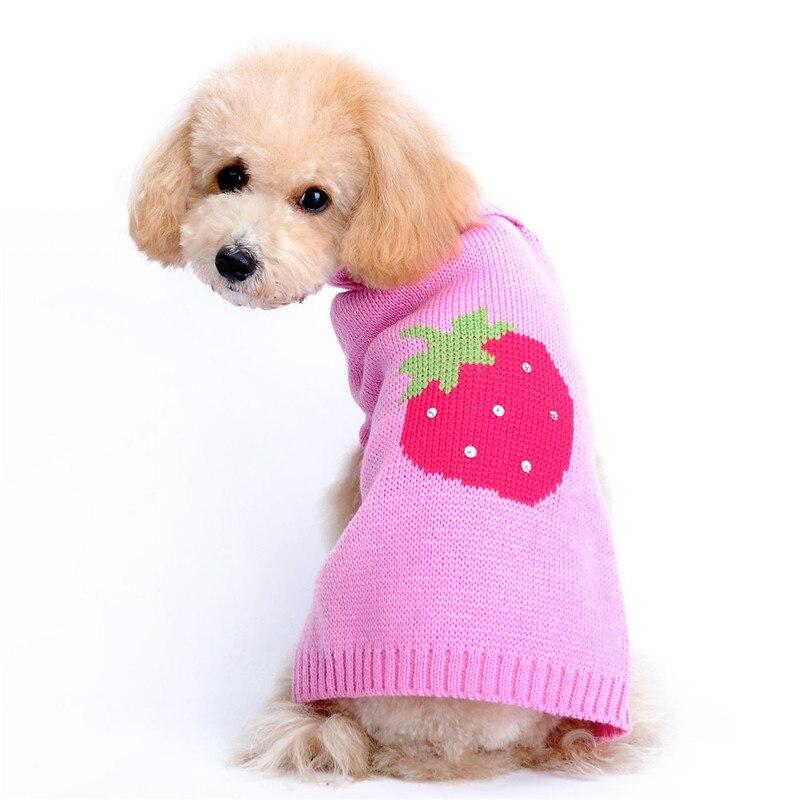 New Arrival Winter Pet Dog Sweater Strawberry Patten