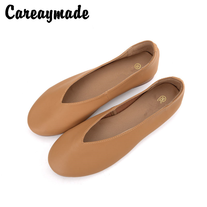 Careaymade Women Leisure Shoes 2019 Spring and Autumn Full new Hot Sale Leather pointed end Flats