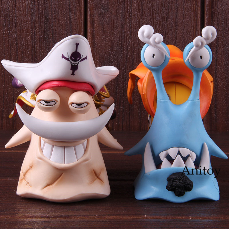 Anime One Piece Edward Newgate Jinbe Den Den Mushi Phone PVC One Piece White Beard Jinbe Action Figure Collectible Model Toy 1