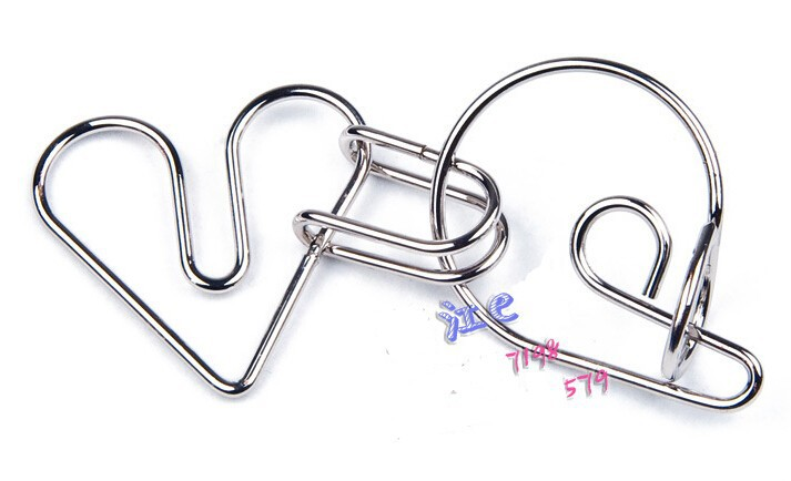 Aliexpress.com : Buy Heart Metal Brain Teaser Wire Puzzle