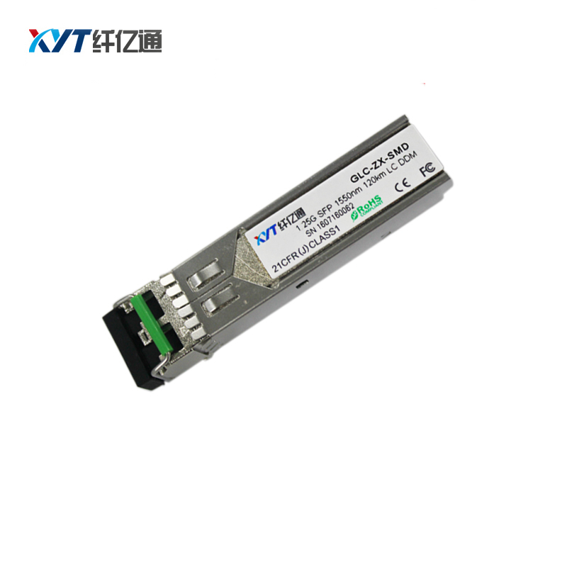 4 pcs/Lot DFB SFP émetteur-récepteur 1550nm double Fiber 120 km SFP Module optique ZYXEL commutateur Compatible