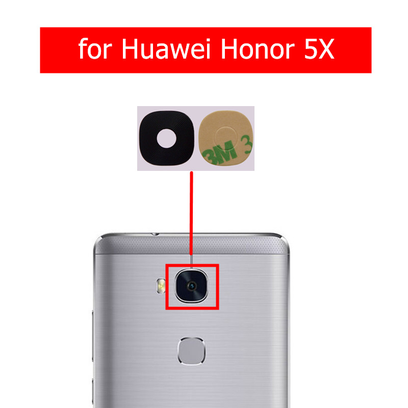 Glass-Lens Camera Huawei Replacement Back Repair-Spare-Parts Honor 2pcs for Rear