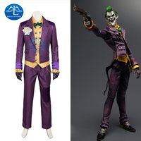 MANLUYUNXIAO Лидер продаж Бэтмен Arkham Asylum Джокер косплей костюм для мужчин Хэллоуин джокер костюм для мужчин полный набор на заказ