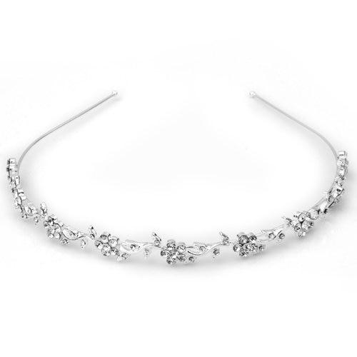 TFGS 10 x Silver Plated Crystal Wedding Bridal Headband Tiara Hair Band Lady Fashion