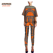 African dress for women pant-suit fashion style bazin riche african clothes brief sleeveless print cotton pants plus size