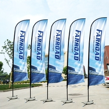 Flags And Banners Beach Feather Flag And Flagpole With Cross Base Graphic Custom Printing Advertising Promotion Celebration
