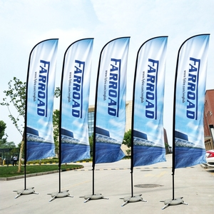 Flags And Banners Beach Feather Flag And Flagpole With Cross Base Graphic Custom Printing Advertising Promotion Celebration(China)