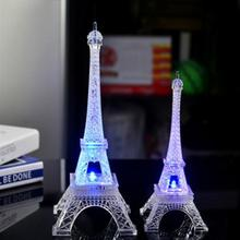 Colorful Eiffel Tower Night Light