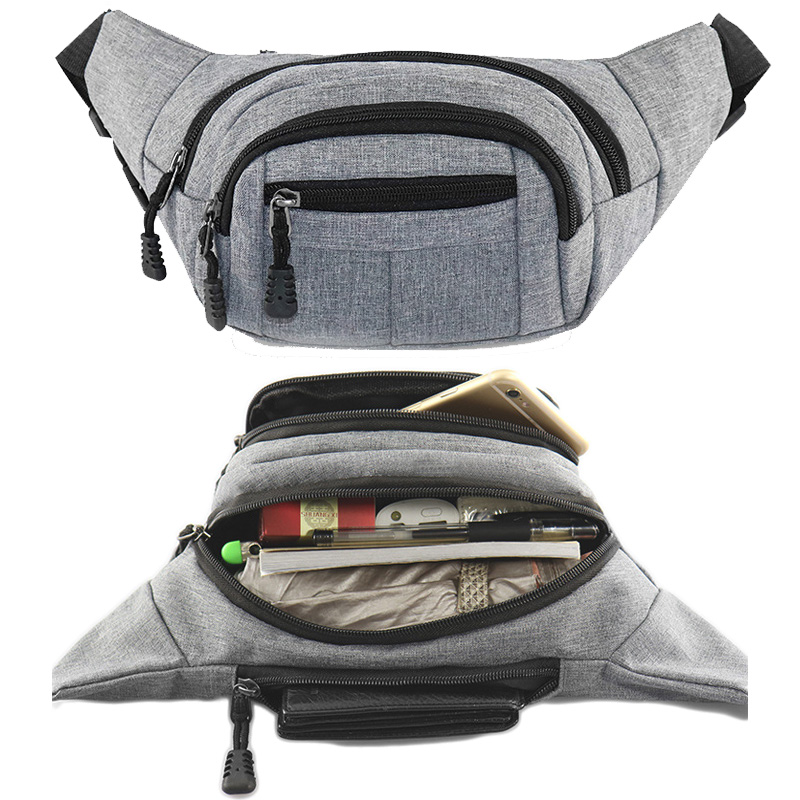 цена New Men Waist Bag Pack Pouch For Women Business Shoulder Phone Belt Bag Multi-pocket Fashion Unisex Portable Travel Hip Pack Bag в интернет-магазинах