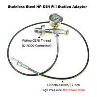 New Paintball Air Gun Airsoft PCP Air Rifle DIN Fit High Pressure Air Fill Station 300Bar Hose With 1/8BSP Thread Connector